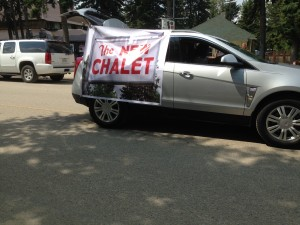 Chamber Days Parade - August 9, 2014  THE NEW CHALET FLOAT