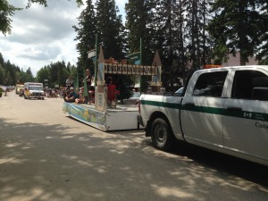 Chamber Days Parade - August 9, 2014 RIDING MOUNTAIN NATIONAL PARK FLOAT